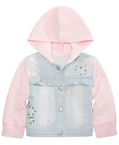 8123401cf3be First Impressions Baby Girls Ruffle Denim Jacket