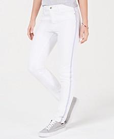 Side-Stripe Skinny Jeans