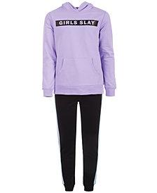 Ideology Big Girls Slay-Print Hoodie & Side-Stripe Jogger Pants, Created for Macy's