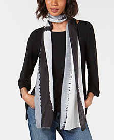 Eileen Fisher Silk Striped Scarf