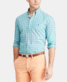 Polo Ralph Lauren Men's Classic Fit Plaid Poplin Cotton Shirt