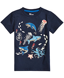 Epic Threads Toddler Boys Glow in the Dark Sea Life Graphic T-Shirt, Created for Macy's