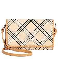 Giani Bernini Straw Multi Function Crossbody Wallet, Created for Macy's