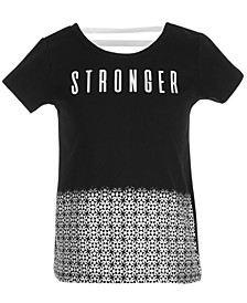 Little Girls Stronger Graphic T-Shirt, Created for Macy's