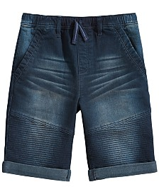 Epic Threads Big Boys Moto Denim Shorts, Created for Macy's