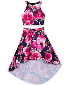 Rare Editions Big Girls 2-Pc. Floral-Print Dress
