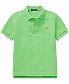 Little Boys Mesh Cotton Polo