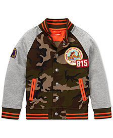Polo Ralph Lauren Big Boys Double-Knit Baseball Jacket