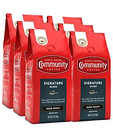 Signature Blend Dark Roast Premium Ground Coffee, 12 Oz - 6 Pack