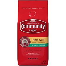 Half Caff Medium-Dark Roast Premium Ground Coffee, 12 Oz - 6 Pack