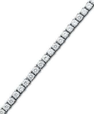 Diamond Tennis Bracelet in 14k White Gold 6 ct t w Diamond