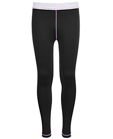 Ideology Big Girls Space-Dyed-Trim Leggings, Created for Macy's