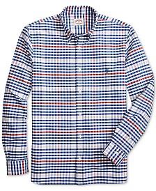 Brooks Brothers Red Fleece Men's Regular-Fit Oxford Stripes & Plaid Shirt