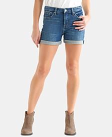 Ava Cuffed Denim Shorts