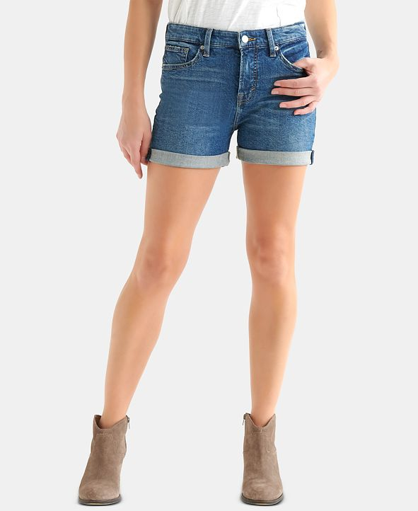 Lucky Brand Ava Cuffed Denim Shorts