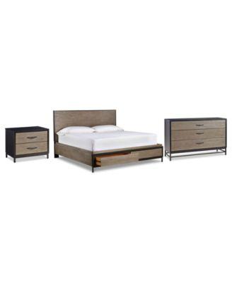 Avery Brown Storage Bedroom Furniture, 3-Pc. Set (Queen Bed, Dresser & Nightstand)