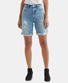 Lucky Brand Ripped Denim Bermuda Shorts