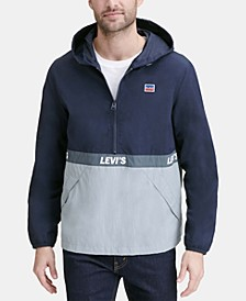 Men's Colorblocked Water Resistant Popover Jacket