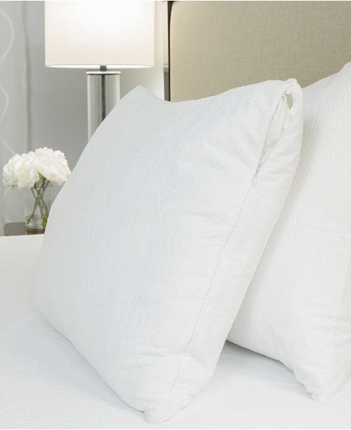 Protect-A-Bed Queen Premium Cotton Terry Pillow Protector