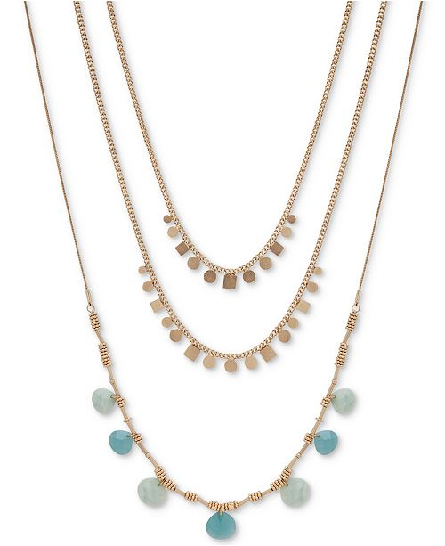 "lonna & lilly Gold-Tone Stone Two-in-One 28"" Multi-Layer Necklace"