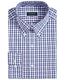Club Room Men's Big & Tall Classic-Fit Plaid Shirt, Created for Macy's