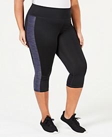 Plus Size Colorblocked Capri Leggings, Created for Macy's