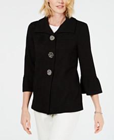 453e2e9aaf38d JM Collection Textured Three-Button Jacket