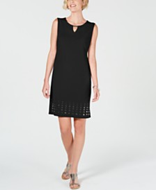 JM Collection Embellished Mirror-Hem Sheath Dress, Created for Macy's