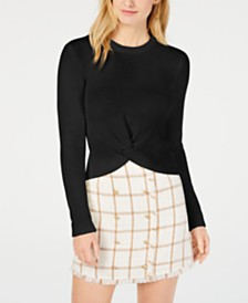 LEYDEN Knot-Front Sweater