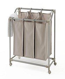 Neatfreak Rolling Deluxe Triple Laundry Sorter with and EVERFRESH® Odor Control
