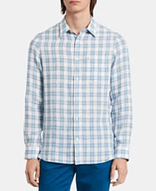 Calvin Klein Men's Plaid Pocket Shirt