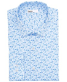 Bar III Men's Classic/Regular-Fit Performance Stretch Floral Vine Dress Shirt, Created for Macy's