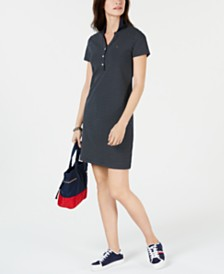 Tommy Hilfiger Pin-Dot Polo-Shirt Dress, Created for Macy's