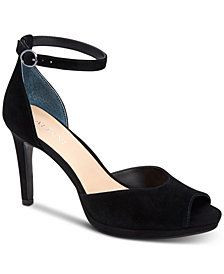 Alfani Women's Peonyy Platform Ankle-Strap Heel, Created for Macy's