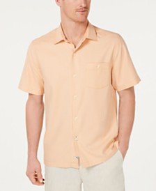 Tommy Bahama Men's Check-In The Tropics Classic Fit Windowpane Check Camp Shirt