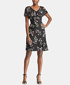 American Living Fit & Flare Floral-Print Dress