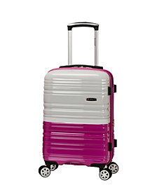 "Rockland Melbourne 20"" Expandable Polycarbonate Carry On"