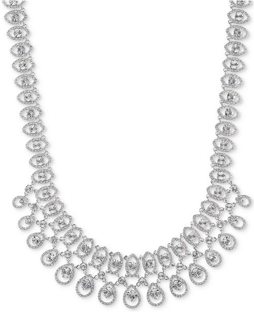 """Givenchy Crystal Statement Necklace, 16"""" + 3"""" extender"""