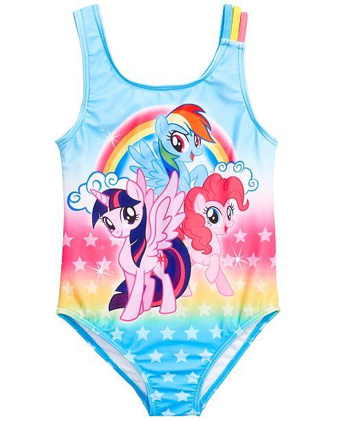 3a0c24e00f6ce ... Dream Wave Dreamwave Little Girls 1-Pc. My Little Pony Graphic Swimsuit  ...