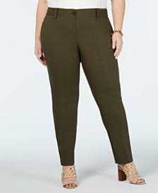 MICHAEL Michael Kors Plus Size Miranda Straight-Leg Pants