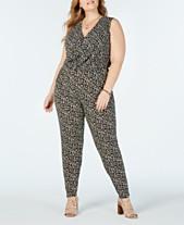 9654993bf97 Jumpsuits Michael Kors Plus Size Dresses   Clothing - Macy s
