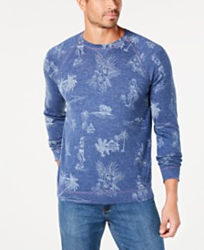 Tommy Bahama Men's Hula Hut Classic Fit Tropical-Print Sweater