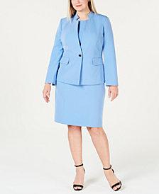 Kasper Plus Size Single-Button Jacket & Sheath Dress