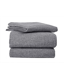 Flannel Solid Sheet Set Full