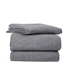 Flannel Solid Sheet Set Full