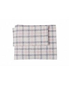 Flannel Check Plaid Sheet Set Full
