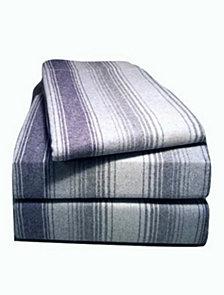 Flannel Stripe Sheet Set California King