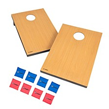 Triumph Tournament Bean Bag Toss Game with 2 Wooden Portable Game Platforms on Foldable Legs and 8 Toss Bags