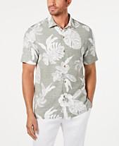 abae24d7 Tommy Bahama Men's Classic Fit Geometric Hawaiian Camp Shirt