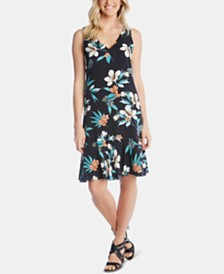 Karen Kane Floral-Print Ruffle-Hem Dress